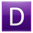 Letter D violet icon