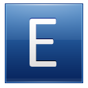 Letter E blue icon