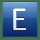 Letter E blue icon