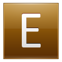 Letter E gold icon