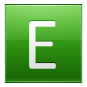 Letter E lg icon