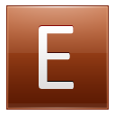 Letter E orange icon