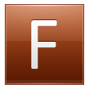 Letter F orange icon