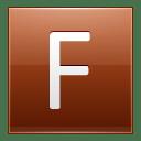 Letter F orange icon