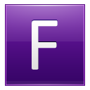 Letter F violet icon