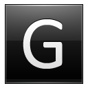 Letter G black icon
