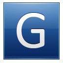 Letter G blue icon