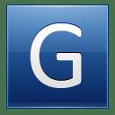 Letter G blue icon