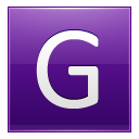 Letter G violet icon