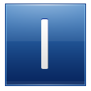 Letter I blue icon
