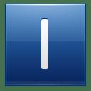 Letter I blue icon
