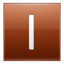 Letter I orange icon