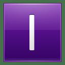 Letter I violet icon