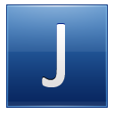 Letter J blue icon