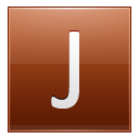 Letter J orange icon
