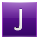 Letter J violet icon
