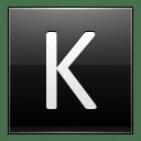 Letter K black icon