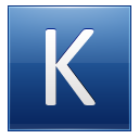 Letter K blue icon