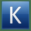 Letter K blue icon