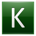Letter K dg icon