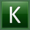 Letter K dg icon