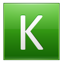 Letter K lg icon