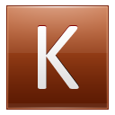Letter K orange icon