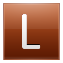Letter L orange icon