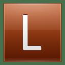 Letter L orange icon