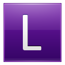 Letter L violet icon
