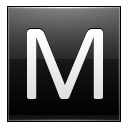 Letter M black icon