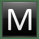 Letter M black icon