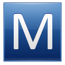Letter M blue icon