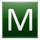 Letter M dg icon