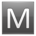 Letter M grey icon
