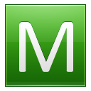 Letter M lg icon