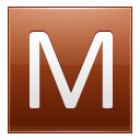 Letter M orange icon