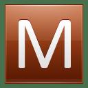 Letter M orange icon