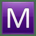 Letter M violet icon