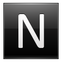 Letter N black icon