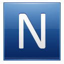 Letter N blue icon