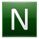 Letter N dg icon
