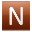 Letter N orange icon