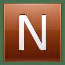 Letter N orange icon