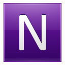 Letter N violet icon