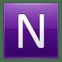 Letter N violet icon
