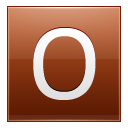 Letter O orange icon