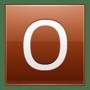 Letter O orange icon