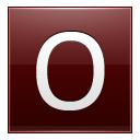 Letter O red icon