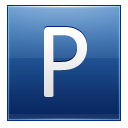 Letter P blue icon
